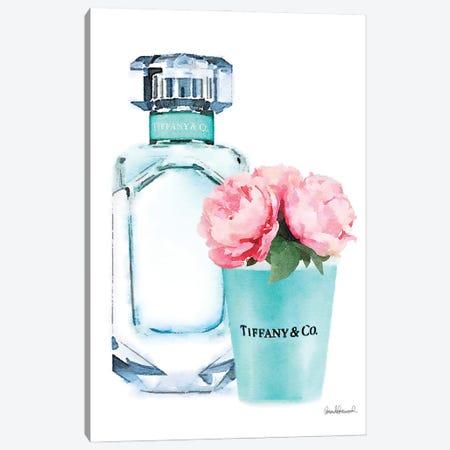 Teal Perfume Set II Canvas Print #GRE226} by Amanda Greenwood Canvas Art