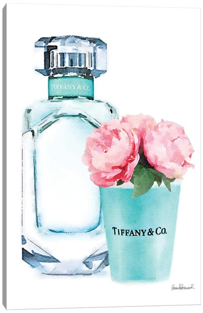 Teal Perfume Set II Canvas Art Print