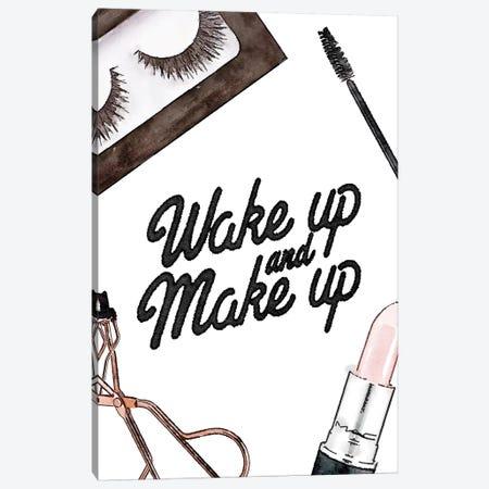 Wake Up And Make Up - Lashes & Lips Canvas Print #GRE228} by Amanda Greenwood Canvas Print