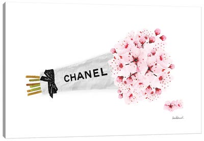 Chanel Cherry Blossom Flower Bouquet Canvas Art Print