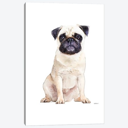 Pug Canvas Print #GRE259} by Amanda Greenwood Canvas Wall Art