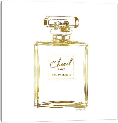 Gold Perfume Bottle Canvas Art Print