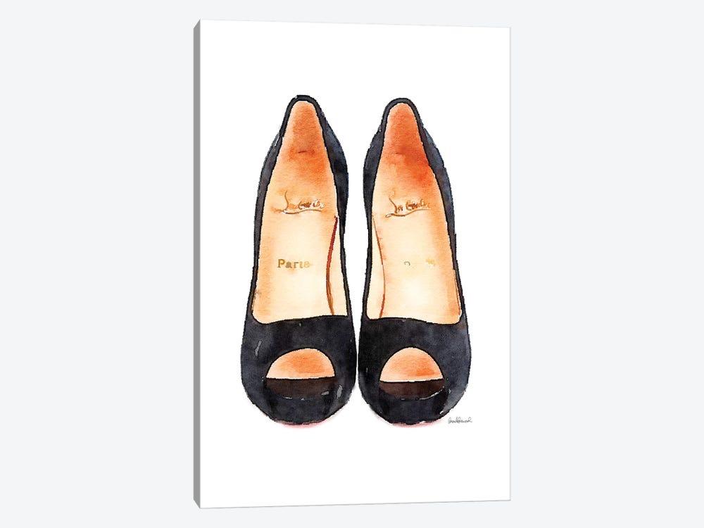 Black Heels Front View by Amanda Greenwood 1-piece Canvas Print