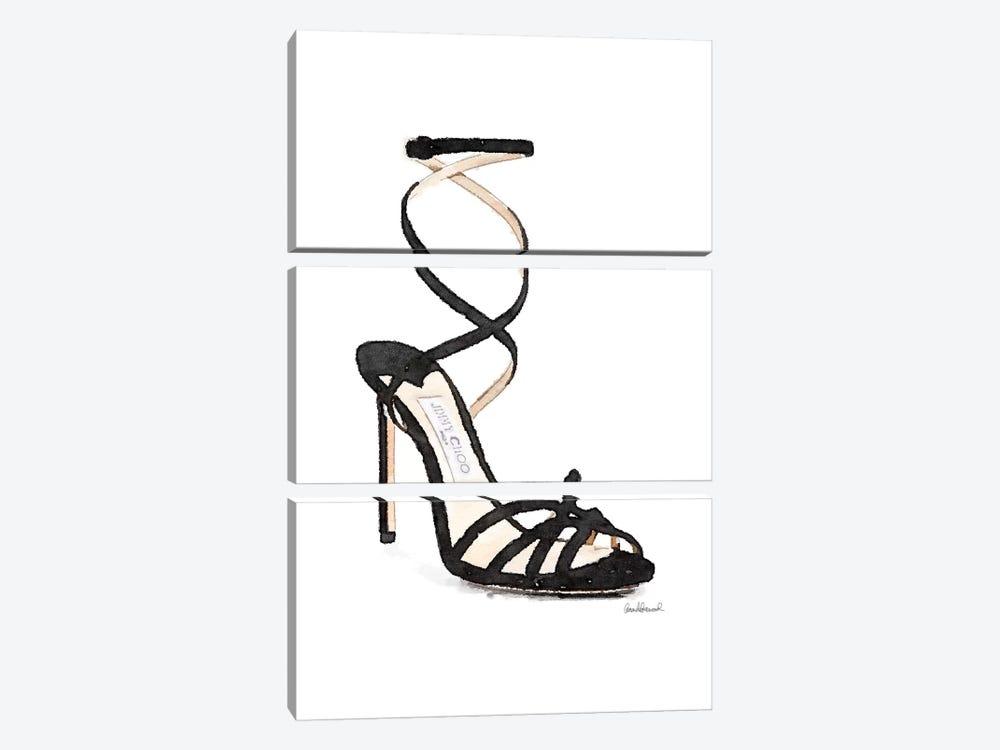 Black Twist Shoe by Amanda Greenwood 3-piece Art Print