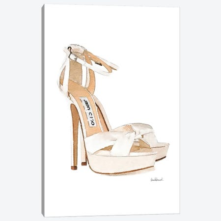Cream Heels Side View Canvas Print #GRE308} by Amanda Greenwood Canvas Wall Art