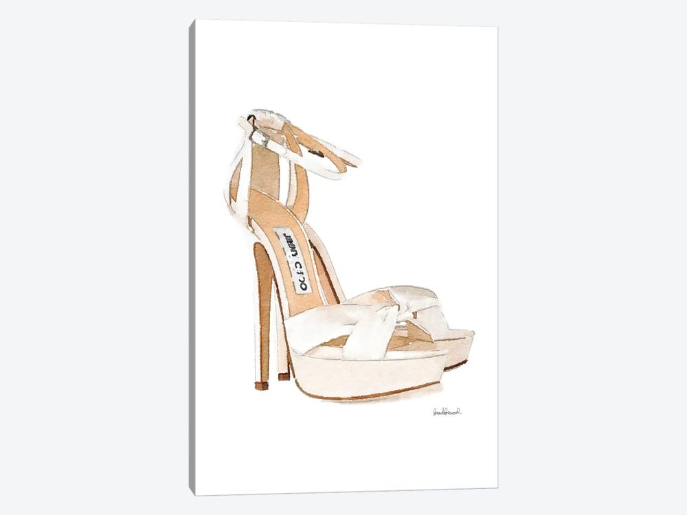 Cream Heels Side View by Amanda Greenwood 1-piece Canvas Print