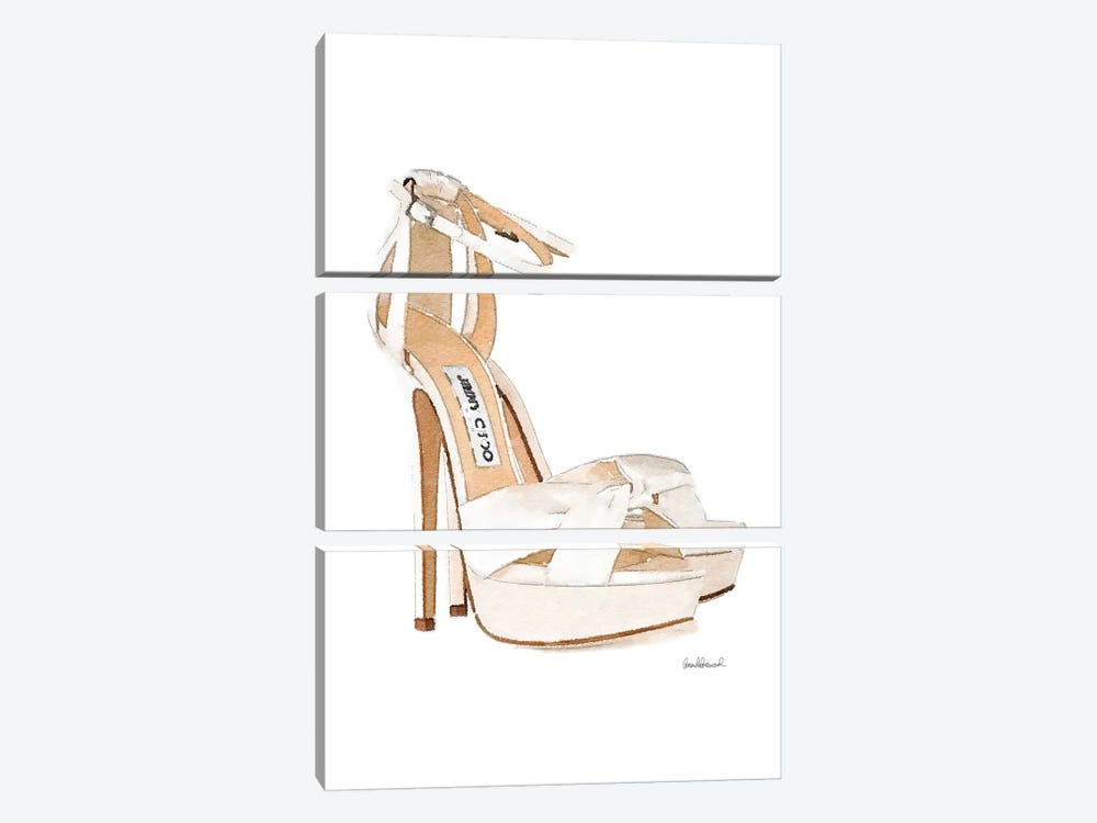 Cream Heels Side View by Amanda Greenwood 3-piece Art Print