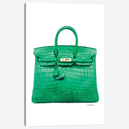 Green Handbag Canvas Print #GRE309} by Amanda Greenwood Canvas Artwork