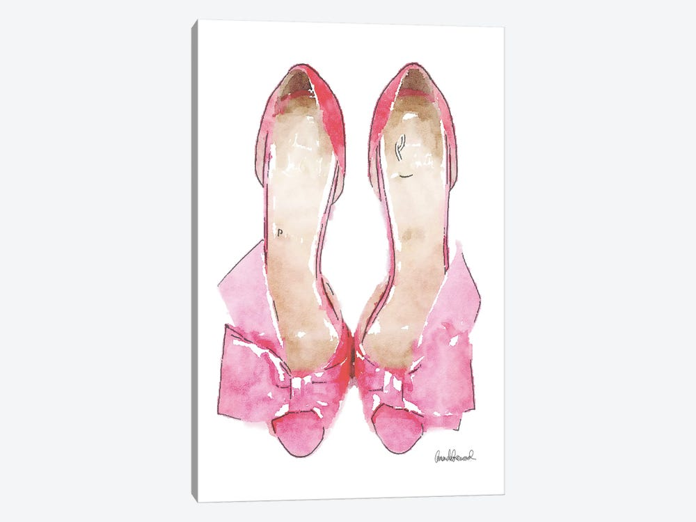 Light Pink Bowed Shoes by Amanda Greenwood 1-piece Canvas Art