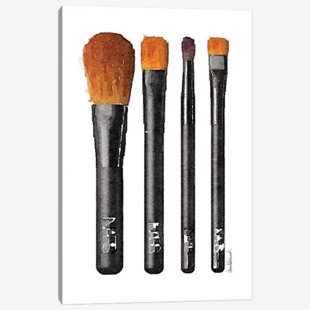 Makeup Brushes Canvas Print #GRE33} by Amanda Greenwood Canvas Art Print