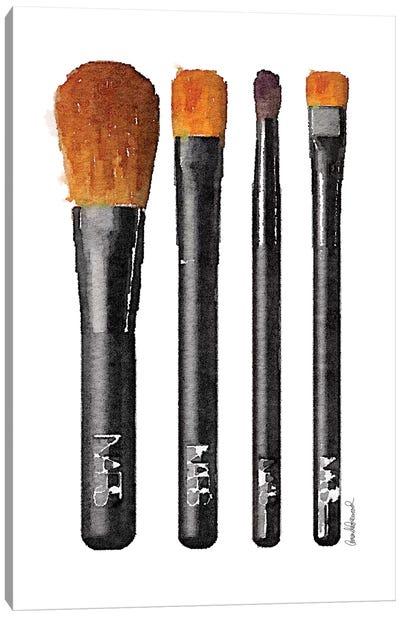 Makeup Brushes Canvas Art Print