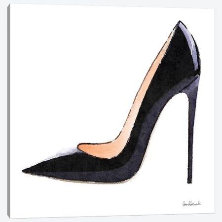Tall Black High Heel Canvas Print #GRE352} by Amanda Greenwood Canvas Print