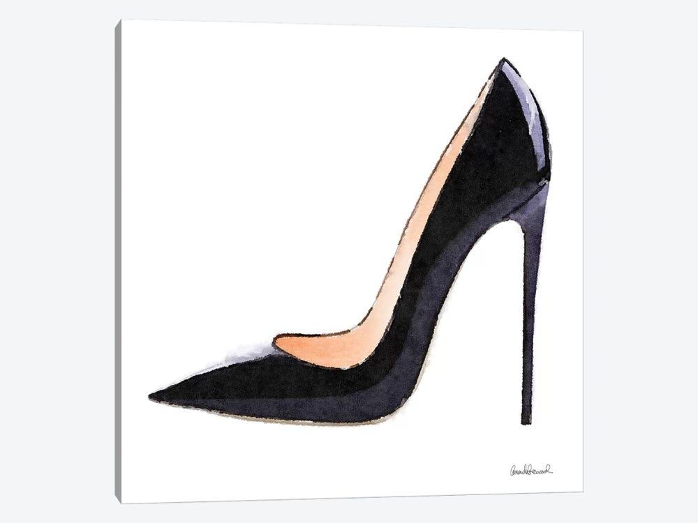 Tall Black High Heel by Amanda Greenwood 1-piece Canvas Artwork