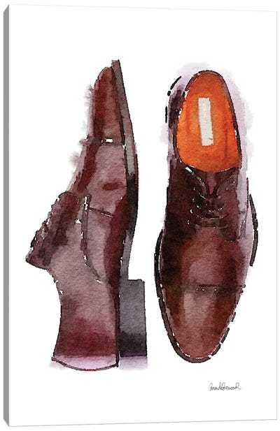 Men's Brown Shoes Canvas Art Print