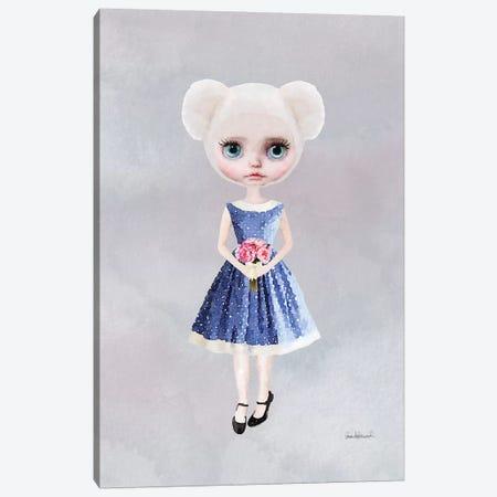 Miss Bear Flowers Canvas Print #GRE39} by Amanda Greenwood Canvas Art Print
