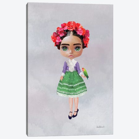 Miss Frida Canvas Print #GRE40} by Amanda Greenwood Canvas Art