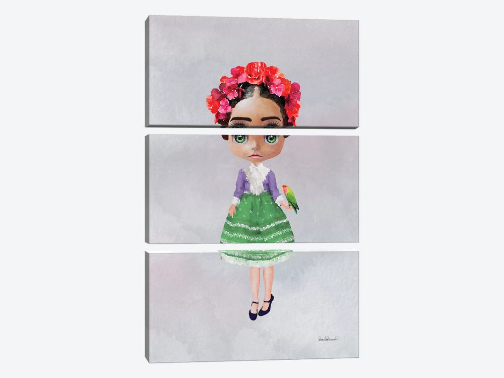 Miss Frida 3-piece Canvas Art Print