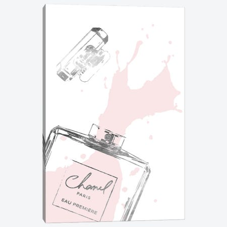 Splashing Perfume In Silver And Blush 3-Piece Canvas #GRE423} by Amanda Greenwood Canvas Print
