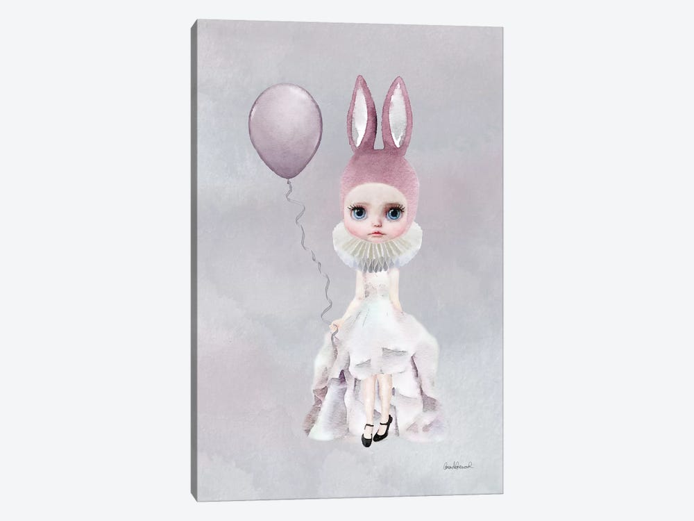 Miss Lily Rabbit With A Balloon by Amanda Greenwood 1-piece Canvas Artwork