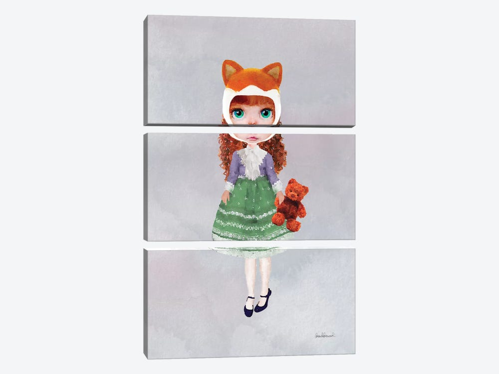 Miss Linda Fox by Amanda Greenwood 3-piece Canvas Art Print