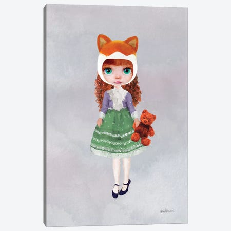 Miss Linda Fox Canvas Print #GRE44} by Amanda Greenwood Art Print