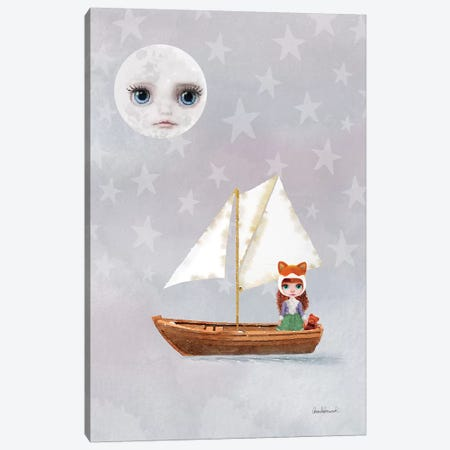 Miss Linda Fox Sailing A Boat Canvas Print #GRE45} by Amanda Greenwood Art Print