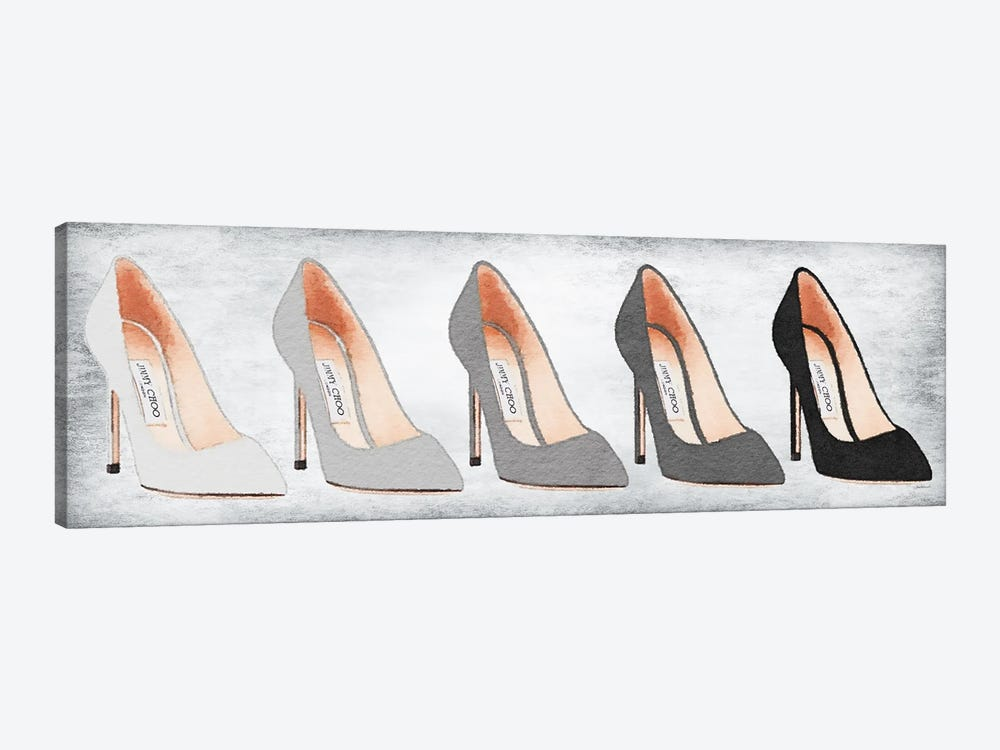 Landscape Grey Tone Shoes With Backgound by Amanda Greenwood 1-piece Canvas Print