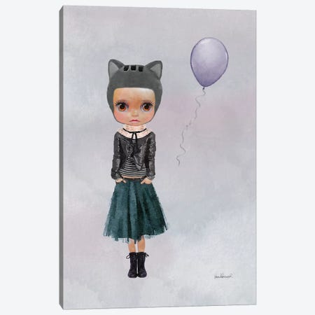 Miss Lola Cat With A Balloon Canvas Print #GRE46} by Amanda Greenwood Art Print