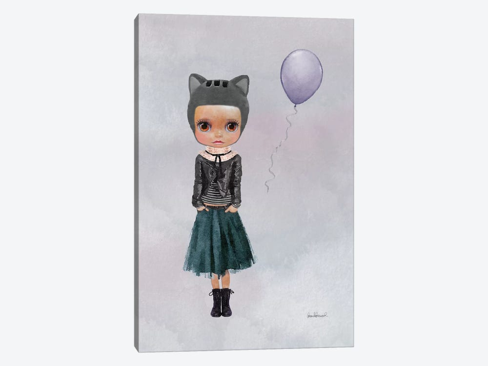 Miss Lola Cat With A Balloon by Amanda Greenwood 1-piece Canvas Print