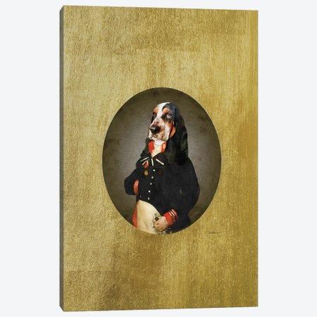 Nelson Portrait Basset Hound Canvas Print #GRE492} by Amanda Greenwood Canvas Art