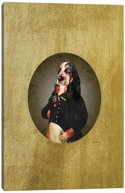 Nelson Portrait Basset Hound Canvas Art Print