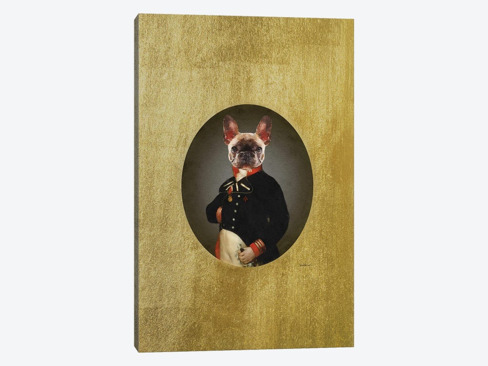 Nelson Portrait Brindle Frenchie by Amanda Greenwood 1-piece Canvas Art Print