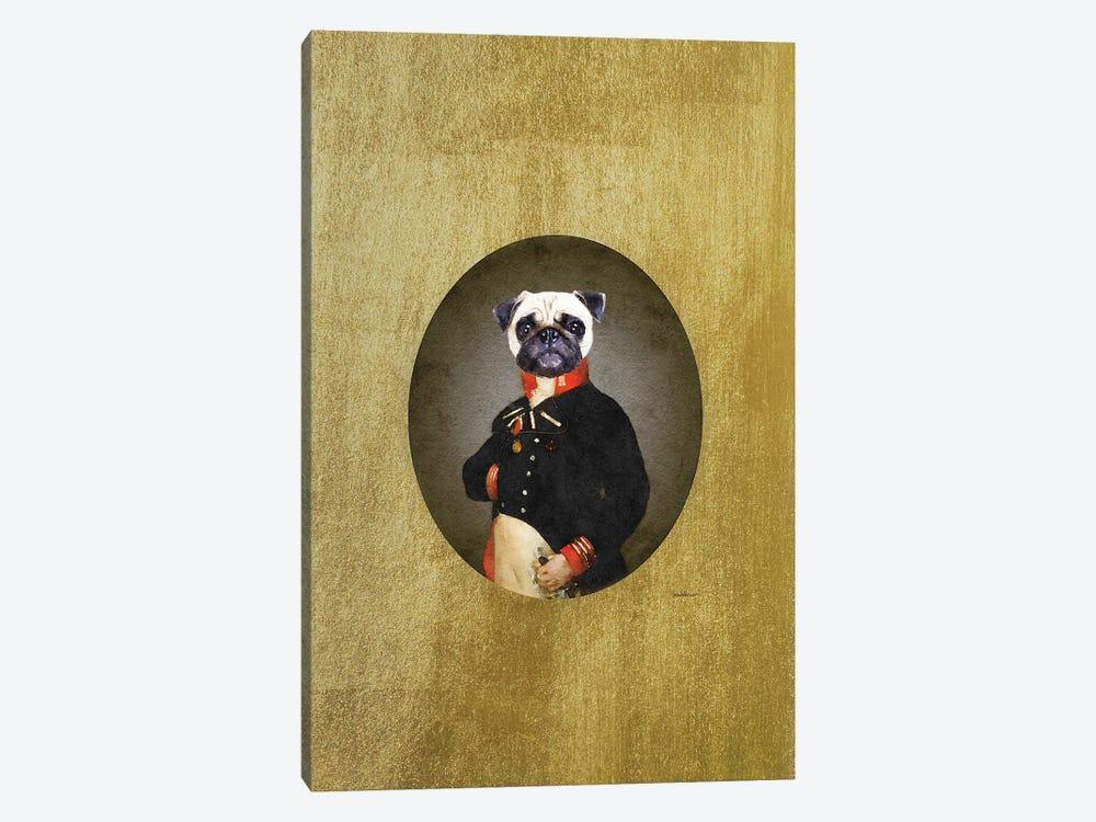 Nelson Portrait Cream Pug by Amanda Greenwood 1-piece Canvas Art