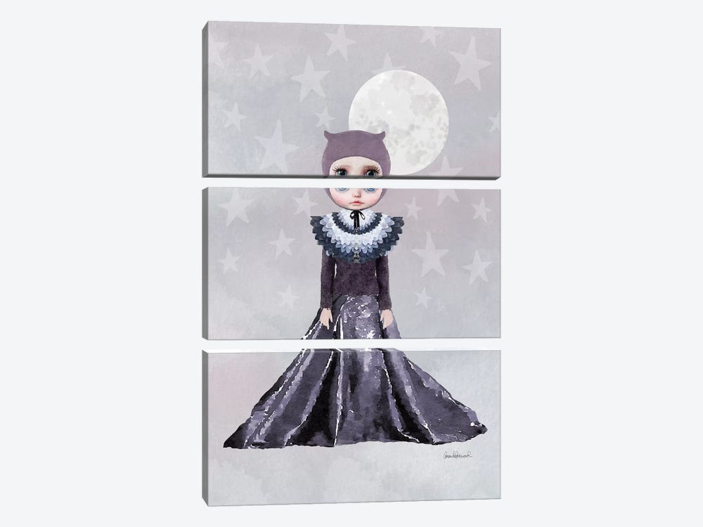 Miss Wendy Owl In A Gown by Amanda Greenwood 3-piece Canvas Art