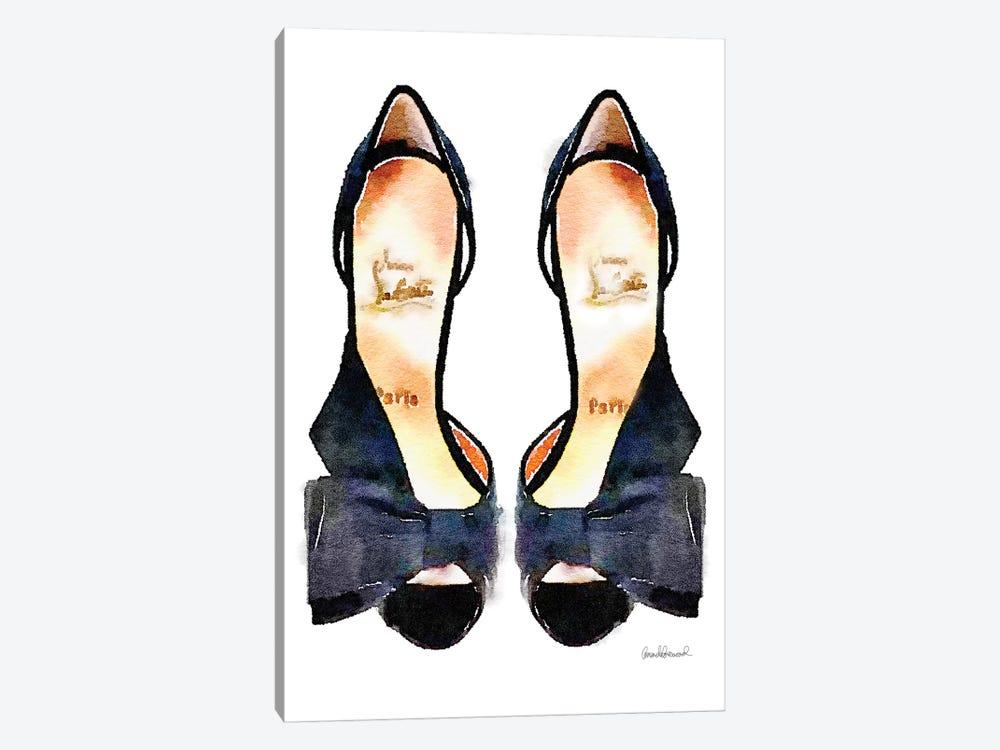 Black Bowed Shoes by Amanda Greenwood 1-piece Canvas Artwork