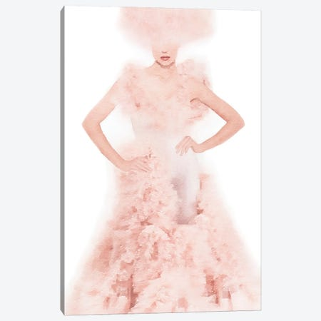 Pink Ball Gown Canvas Print #GRE514} by Amanda Greenwood Canvas Art