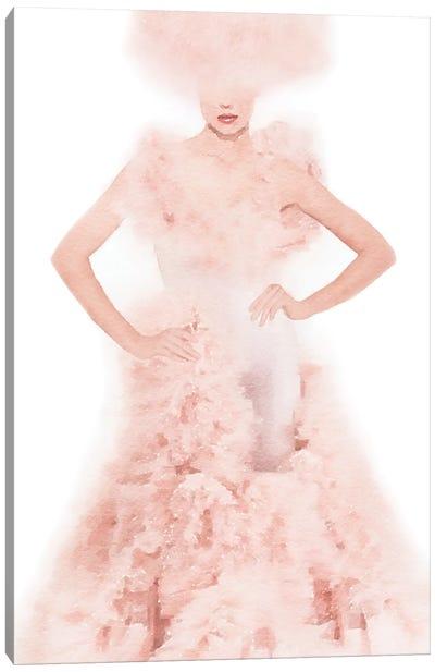 Pink Ball Gown Canvas Art Print