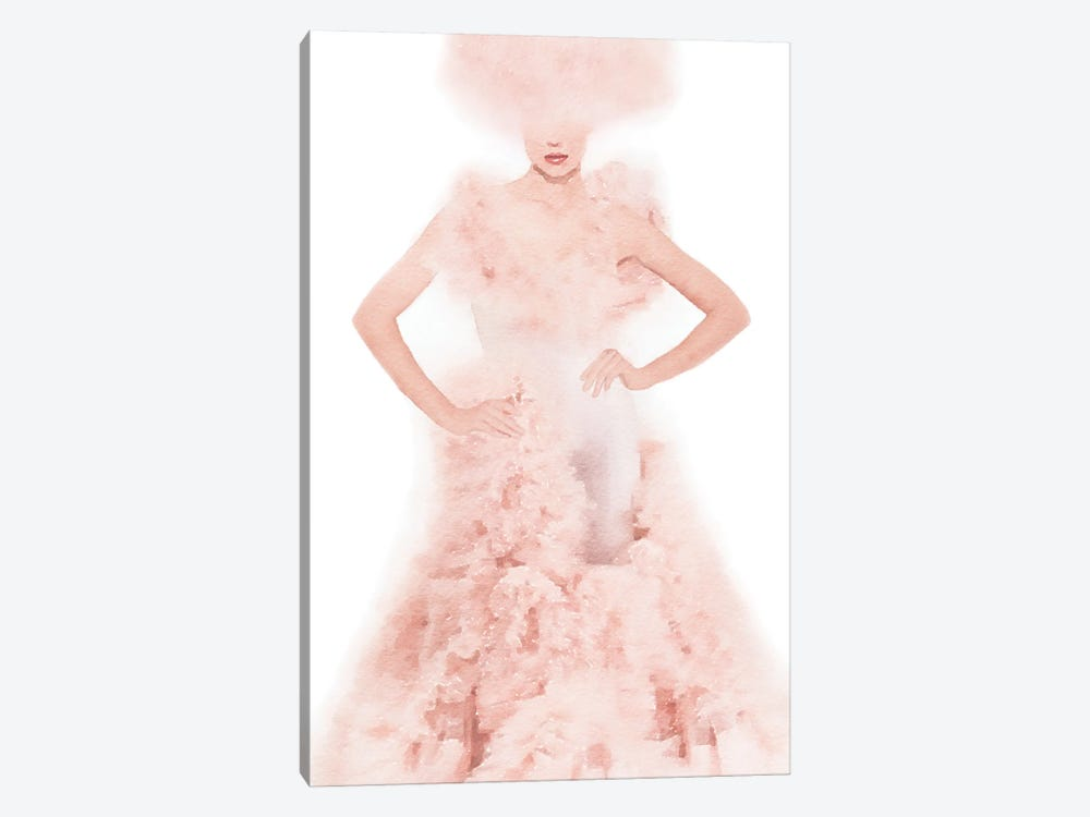 Pink Ball Gown by Amanda Greenwood 1-piece Canvas Wall Art