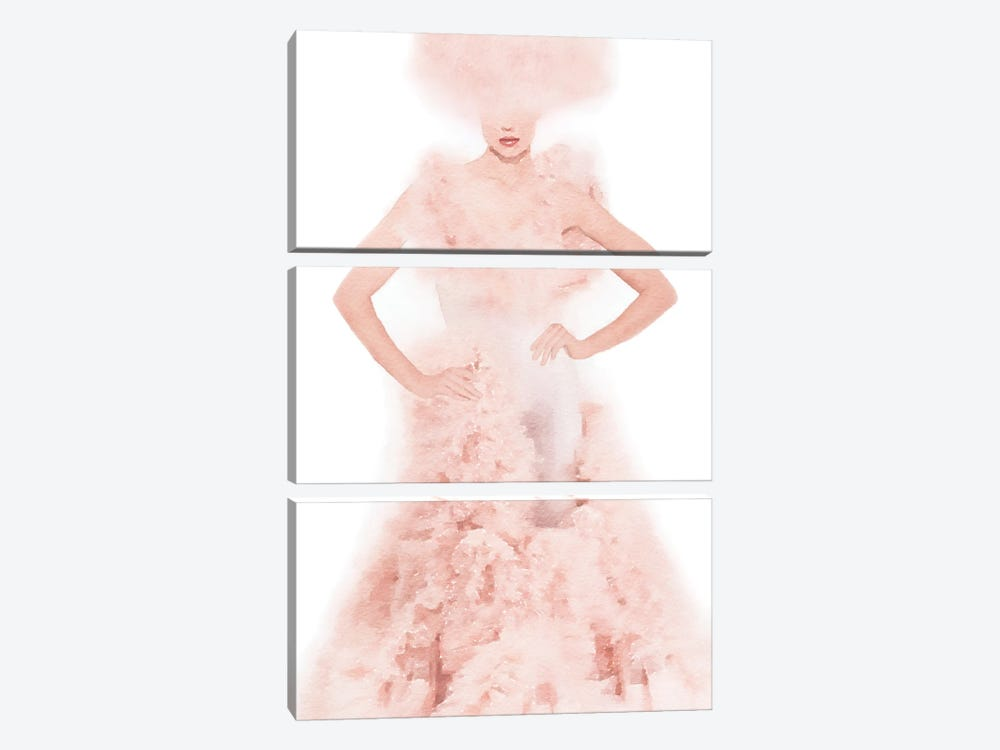 Pink Ball Gown by Amanda Greenwood 3-piece Canvas Artwork