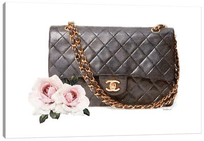 Quilted Bag With Roses Canvas Art Print