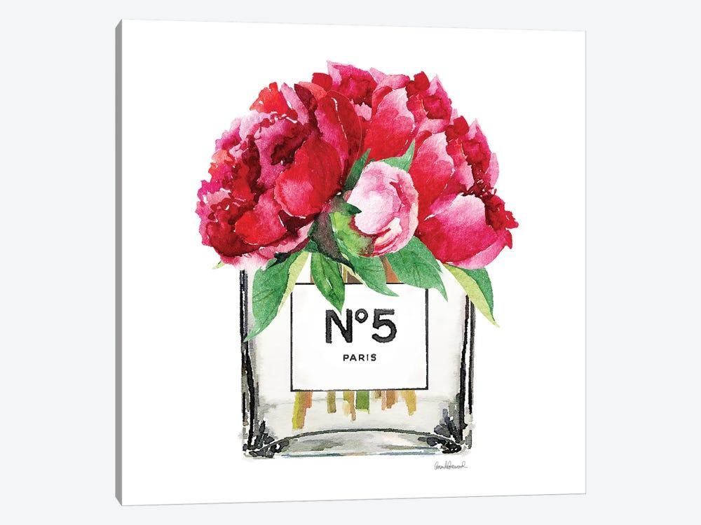 No. 5 Vase With Deep Pink Peonies by Amanda Greenwood 1-piece Canvas Print