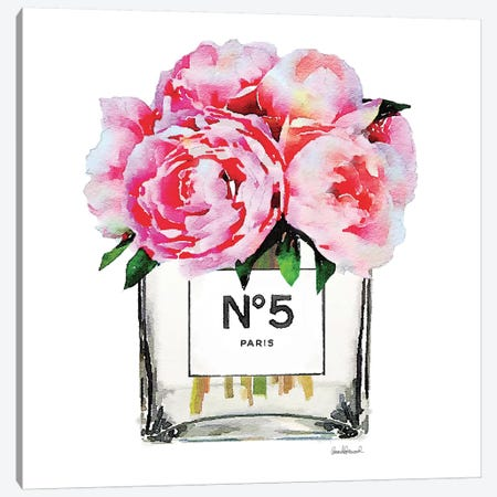 No. 5 Vase With Pink Peonies Canvas Print #GRE52} by Amanda Greenwood Canvas Print