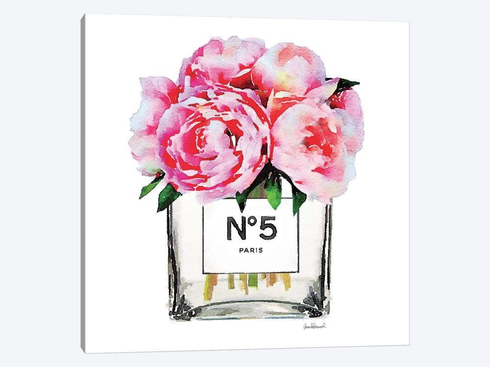 No 5 Vase With Pink Peonies Canvas Art Print By Amanda Greenwood