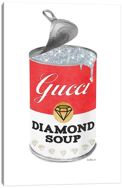 Diamond Soup In Red Open Lid Canvas Art Print