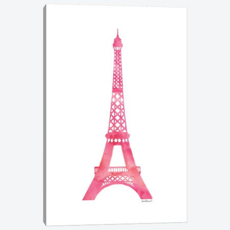 Pink Eiffel Tower Canvas Print #GRE60} by Amanda Greenwood Canvas Art