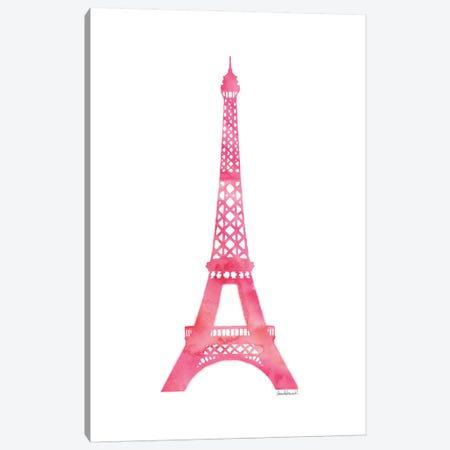 Pink Eiffel Tower Canvas Print #GRE60} by Amanda Greenwood Canvas Art