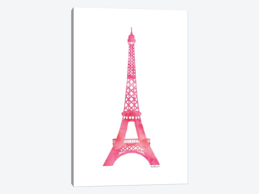 Pink Eiffel Tower by Amanda Greenwood 1-piece Canvas Print