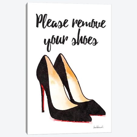 Please Remove Your Shoes Canvas Print #GRE64} by Amanda Greenwood Art Print