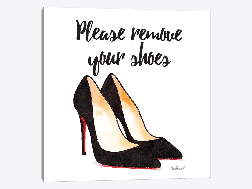 Please Remove Your Shoes, Square by Amanda Greenwood 1-piece Canvas Artwork