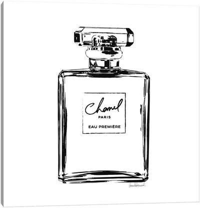 Black Perfume Bottle Canvas Art Print